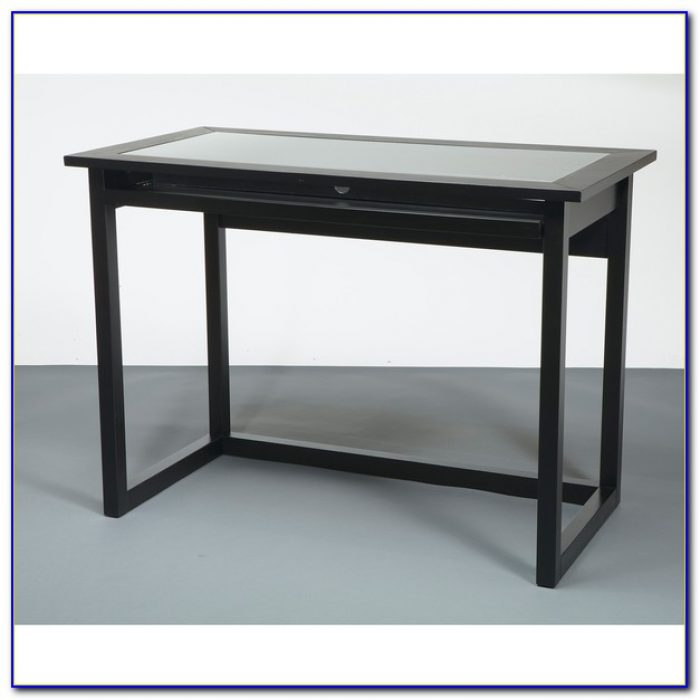 Modern Tempered Glass Computer Desk