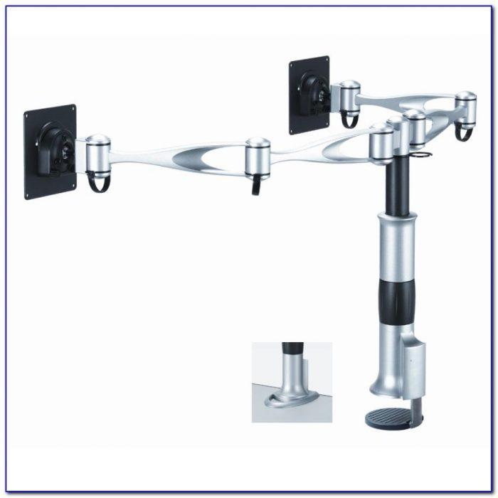 cool living room furniture hot bent glass lcd tv stand bracket   Dual Monitor Arms For Desks - Desk : Home Design Ideas # ...