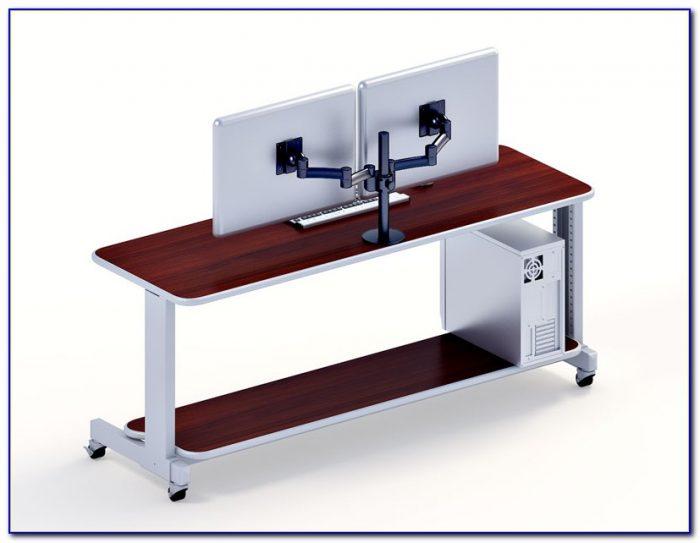 multi monitor desktop computer desk home design ideas. Black Bedroom Furniture Sets. Home Design Ideas