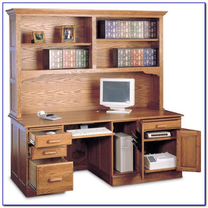 Oak Computer Desk With Hutch Uk