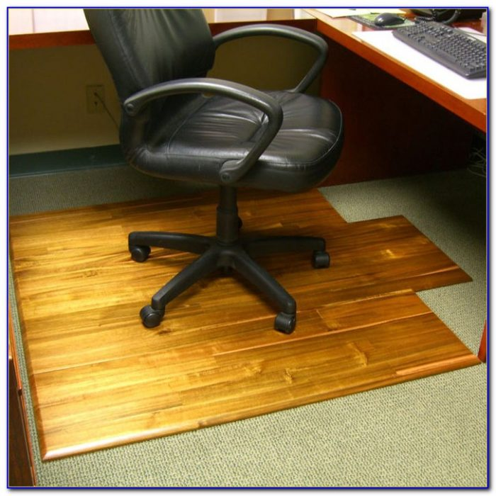 Office chair mat for carpeted floor desk home design for Floor couch amazon