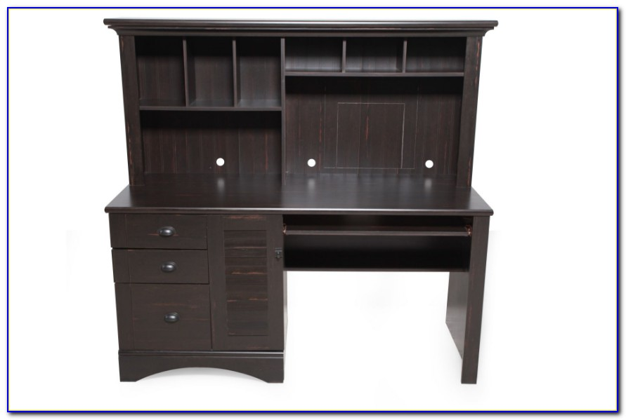 Sauder Desk With Hutch Black Download Page Home Design