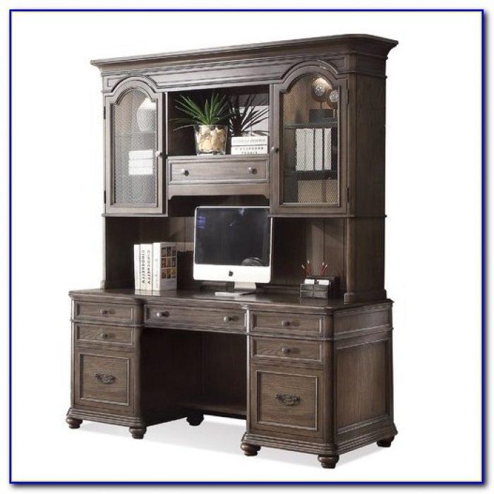 Sauder Executive Desk With Hutch