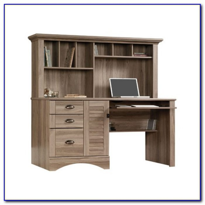 Sauder Harbor View Computer Desk With Hutch Ii Desk