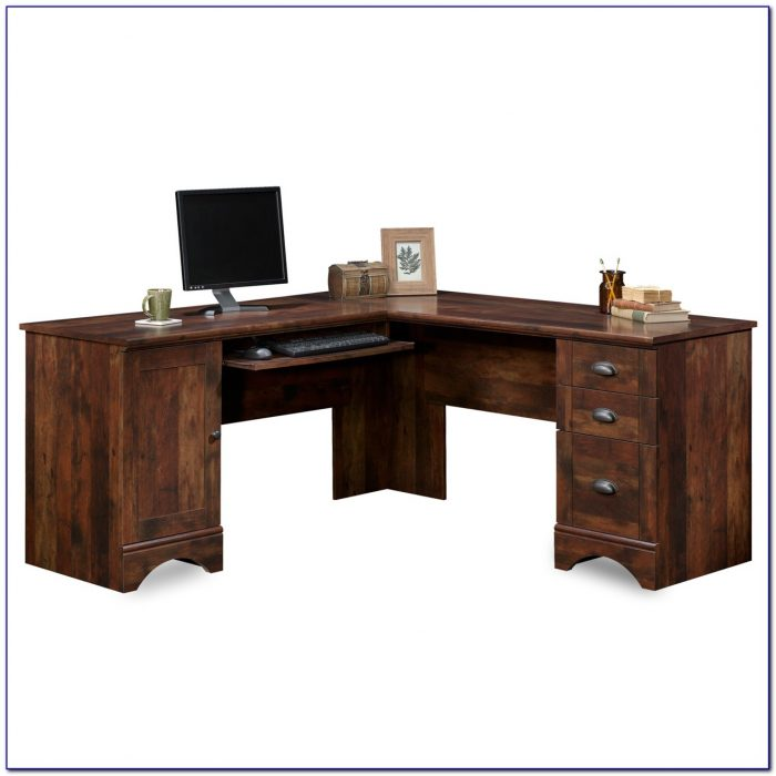 Sauder harbor view corner computer desk antiqued white desk home design ideas drdkmlmpwb72857 - Sauder computer desk assembly instructions ...