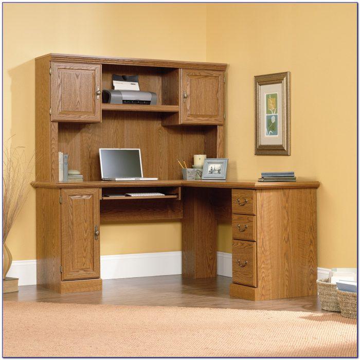 Sauder Orchard Hills Computer Desk With Hutch And File Drawer Carolina Oak