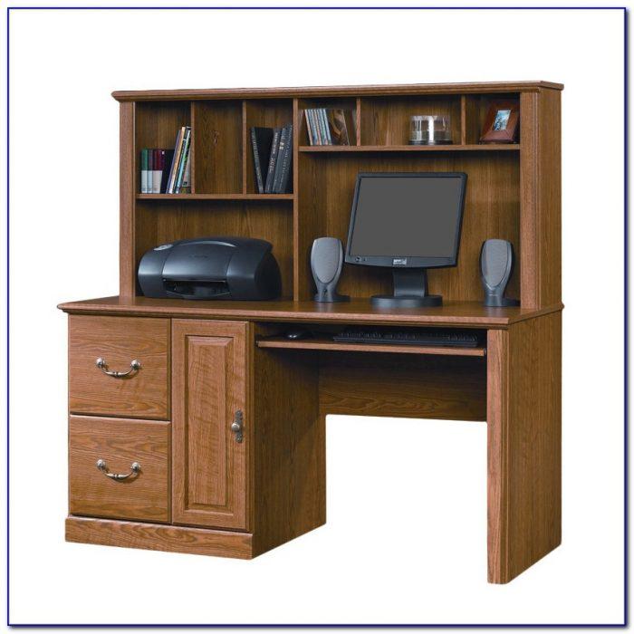 Sauder Orchard Hills Computer Desk Hutch Cherry Corner Home