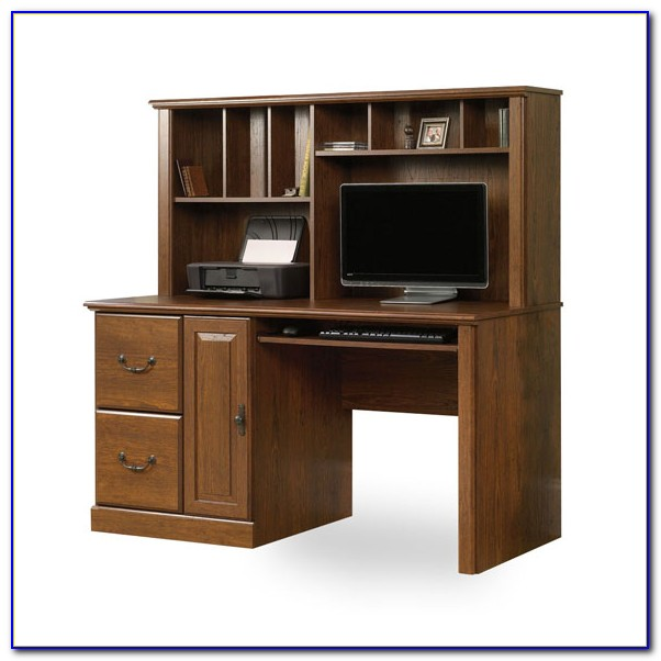 Sauder Orchard Hills Computer Desk With Hutch In Milled Cherry