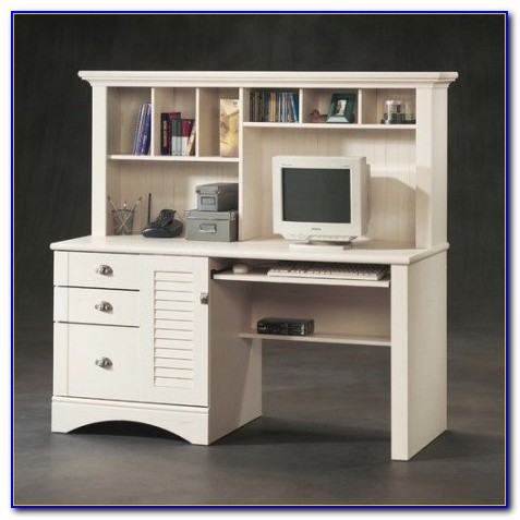 Sauder Orchard Hills Computer Desk With Hutch White