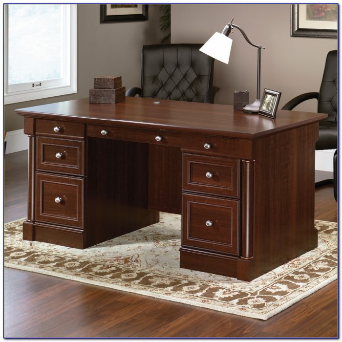Sauder palladia office desk with locking drawer desk home design ideas abpw3r9pvx74535 - Sauder computer desk assembly instructions ...