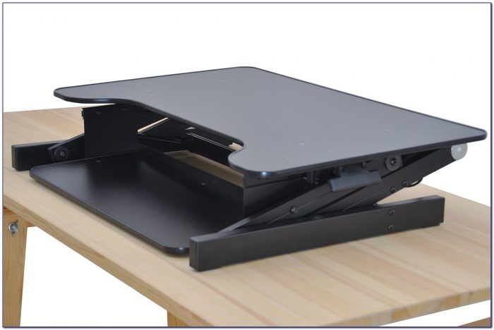 Sit Stand Desk Converter Dual Monitor