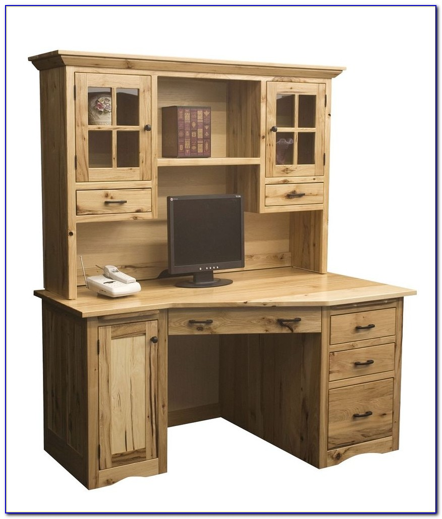 Solid Wood Computer Desk With Hutch Download Page Home