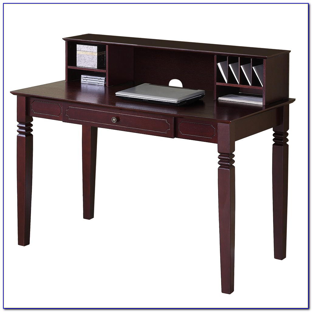 Solid Wood L Desk With Hutch
