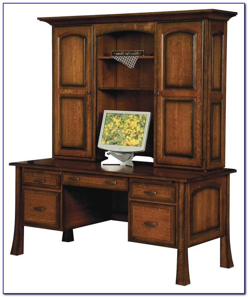 Solid Wood White Desk With Hutch Desk Home Design