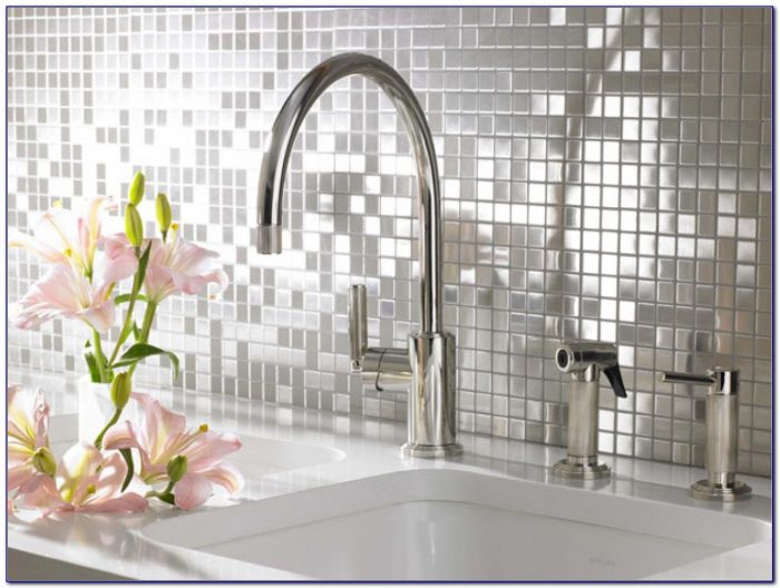 Stainless Steel Tile Backsplash Ideas