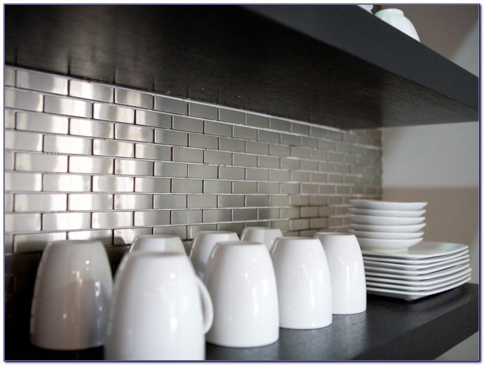 Stainless Steel Tile Backsplash Installation