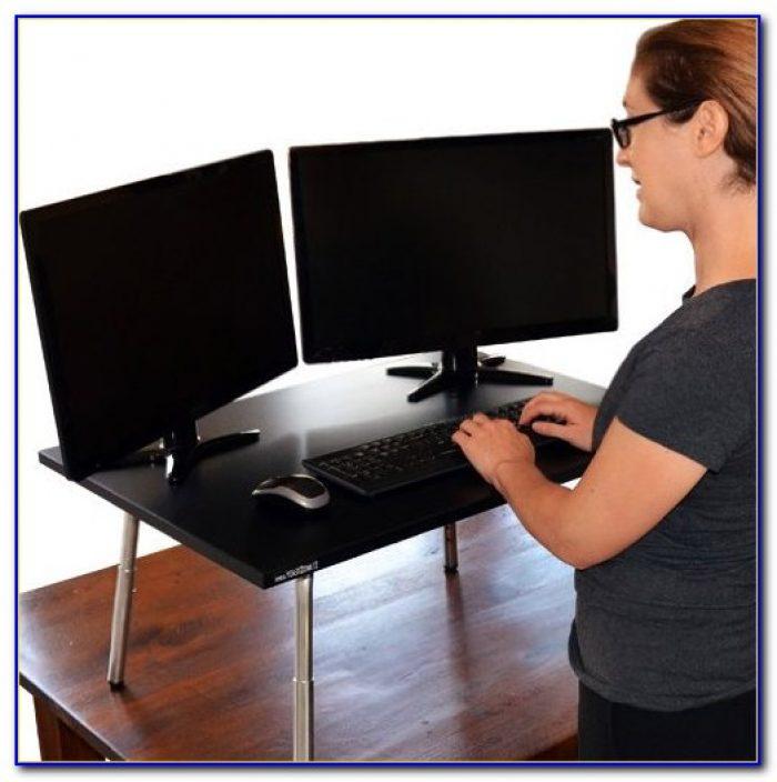 Sit Stand Desk Attachment Desk Home Design Ideas