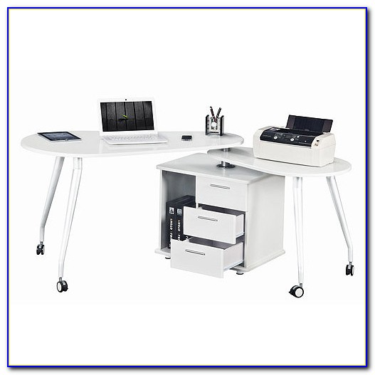 Techni Mobili Super Storage Computer Desk White
