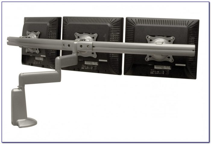 Triple Monitor Desk Mount Spring Arm
