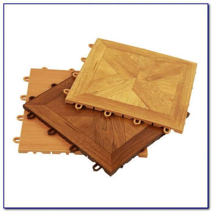 U Snap Interlocking Wood Floor Tiles