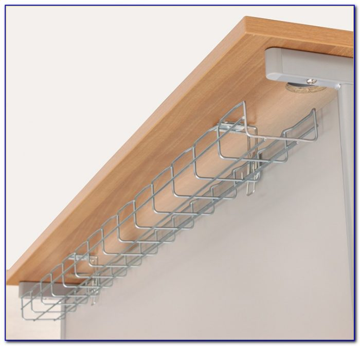 Office Under Desk Cable Tray Desk Home Design Ideas