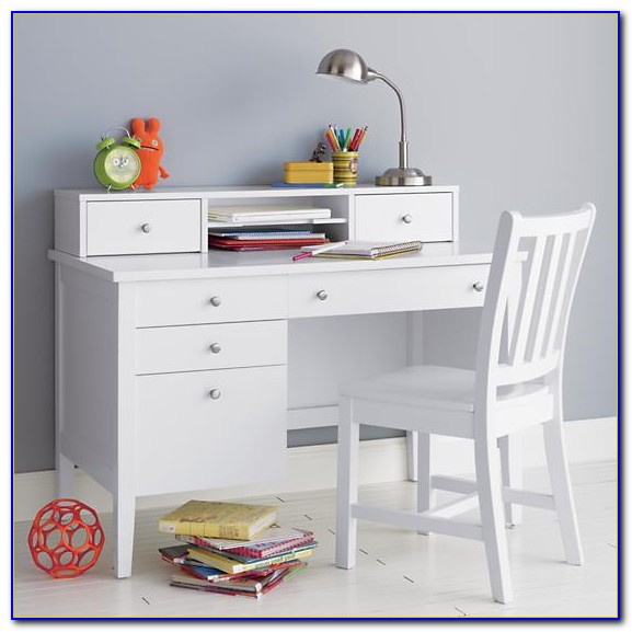 White Corner Desk And Hutch