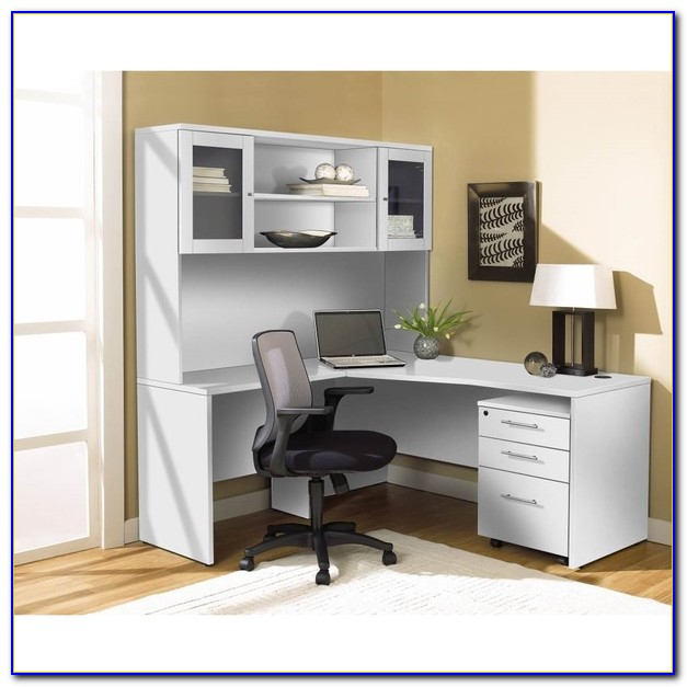 White Corner Desk With Hutch And Drawers - Desk : Home ...