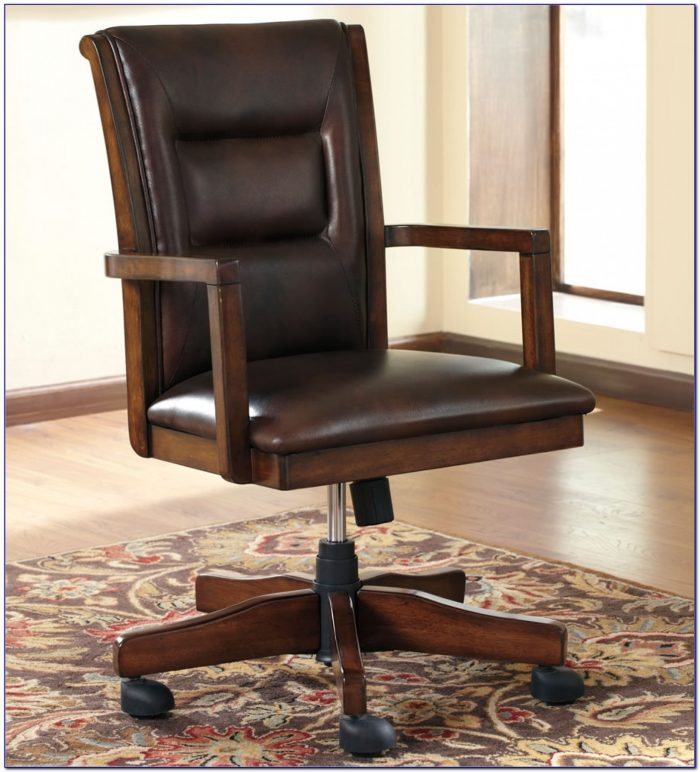 Wooden Swivel Desk Chair Australia