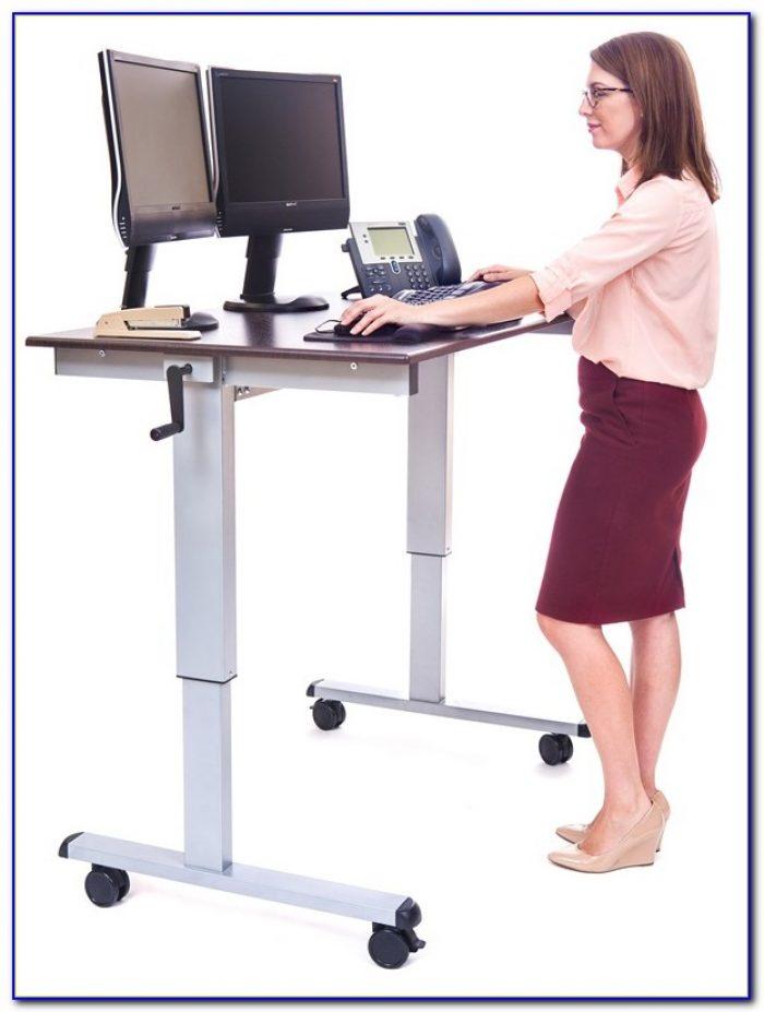 32 Mobile Ergonomic Stand Up Desk Computer Workstation