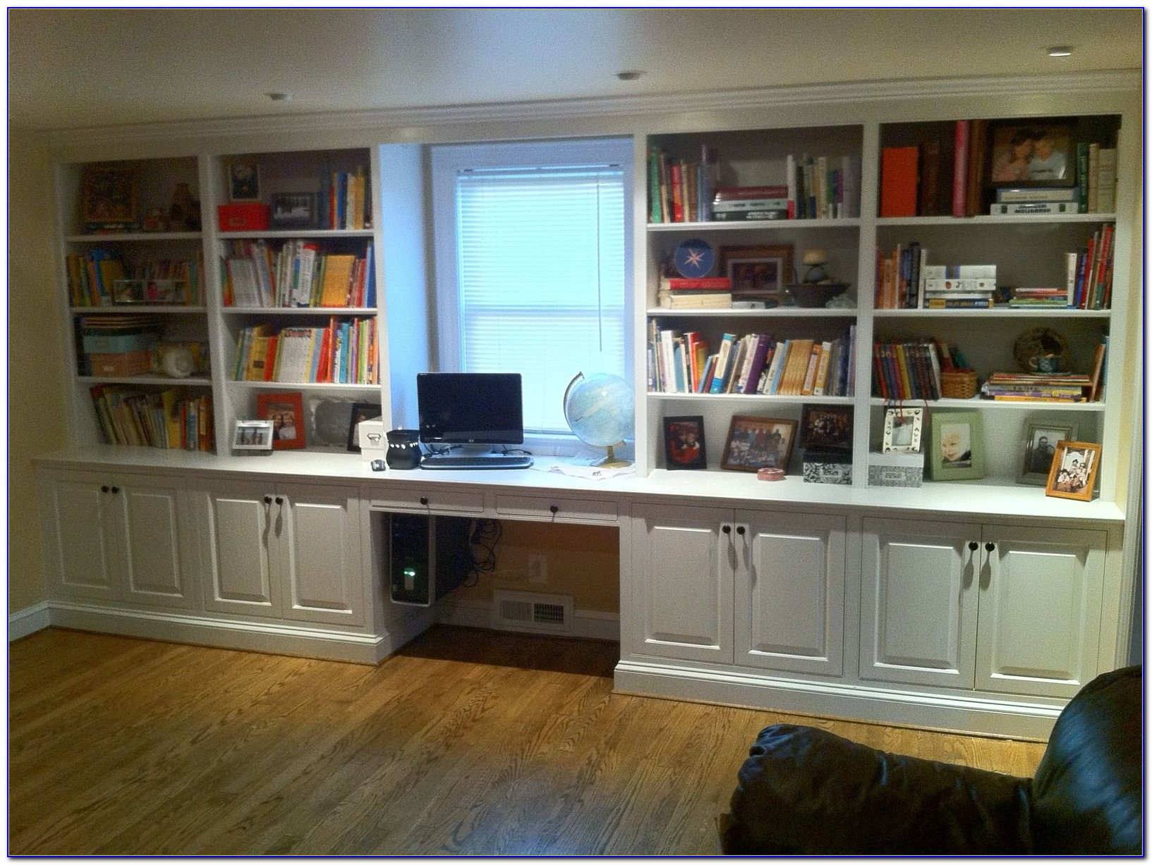 Bookcase With Desk Built In