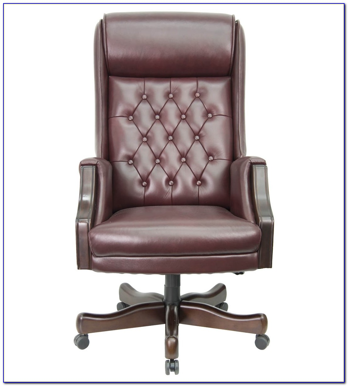 Brown leather tufted desk chair desk home design ideas for Tufted leather chair design