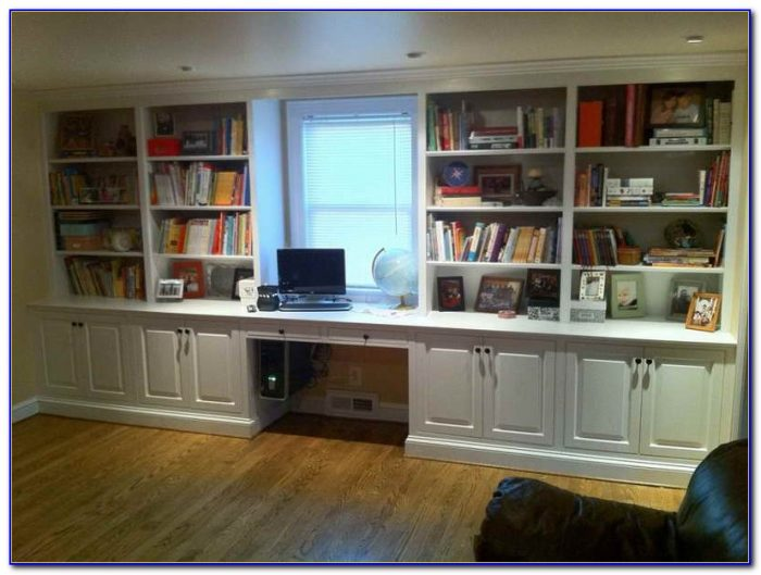 Built In Bookshelves Computer Desk
