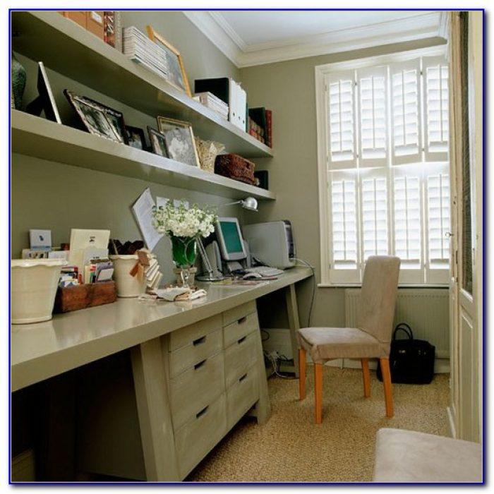 Built In Corner Desk And Shelves