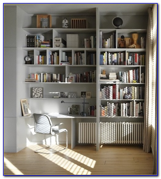 Built In Corner Desk With Bookshelves