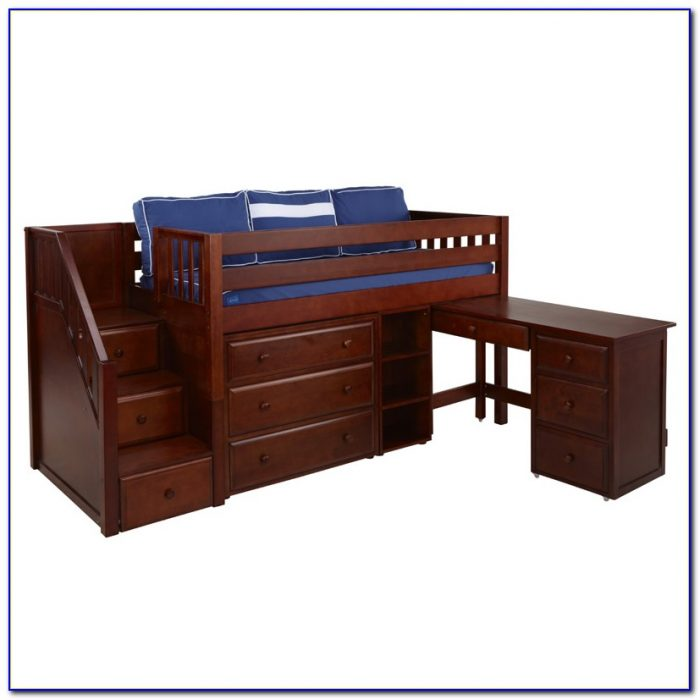 Bunk Bed With Built In Dresser And Desk