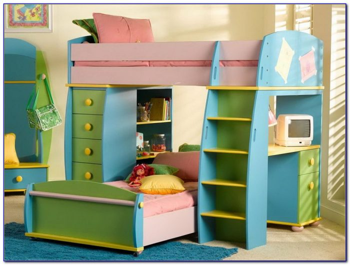 Bunk Beds With Desk Under Them