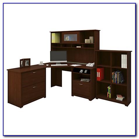 Bush Cabot 60 Corner Computer Desk With Hutch Espresso Oak