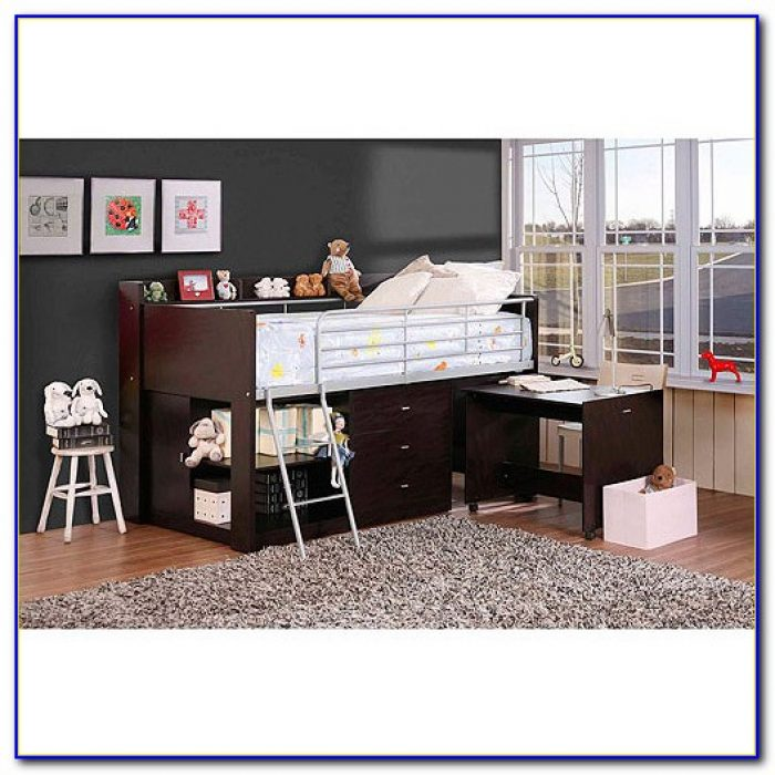 Charleston Storage Loft Bed With Desk Espresso Assembly Instructions