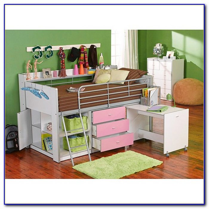 Charleston Storage Loft Bed With Desk White Instructions