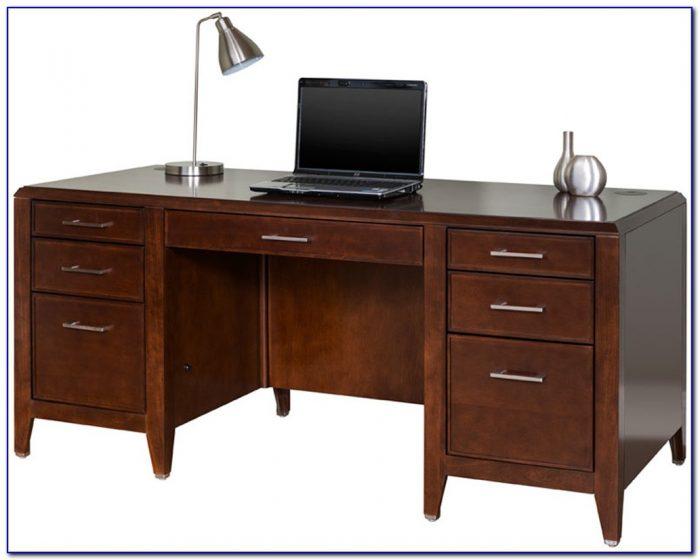Cherry Double Pedestal Executive Desk
