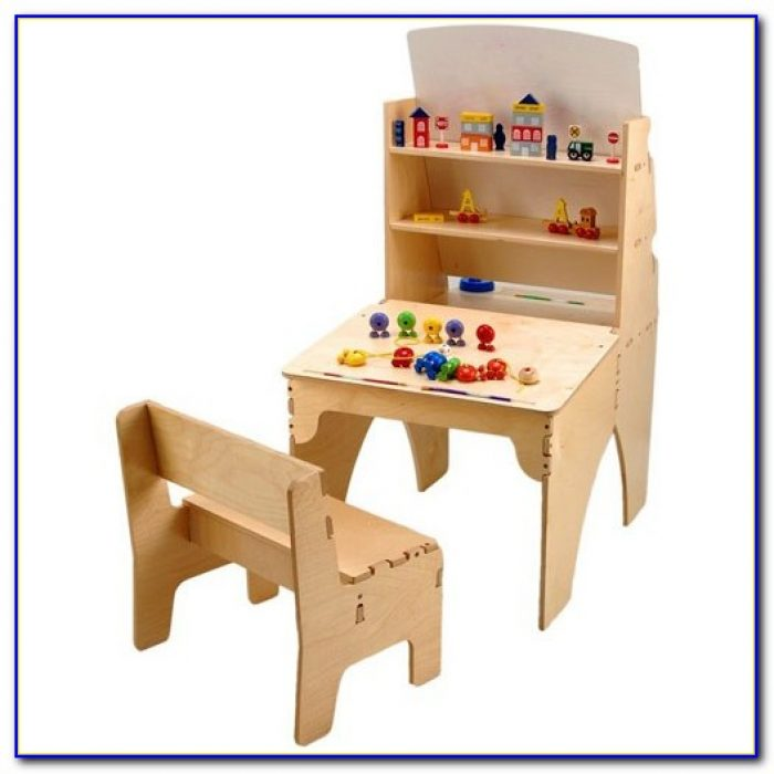 Children's Desk Easel Combo