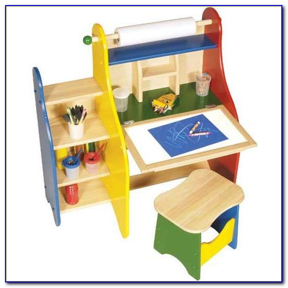Childrens Wooden Drawing Desk