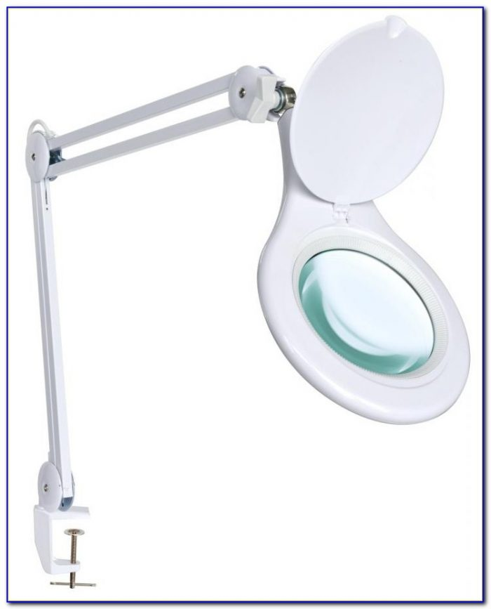 Magnifying Clamp On Adjustable Desk Lamp Desk Home