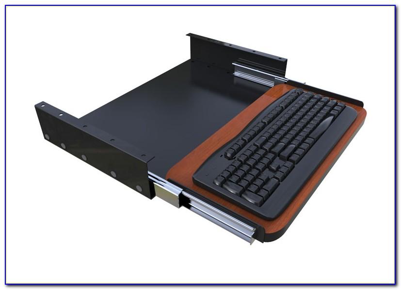 Computer Desk Slide Out Keyboard Tray Desk Home Design