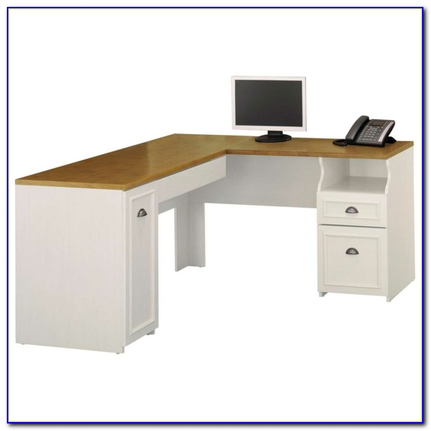 Corner Desk Antique White Finish