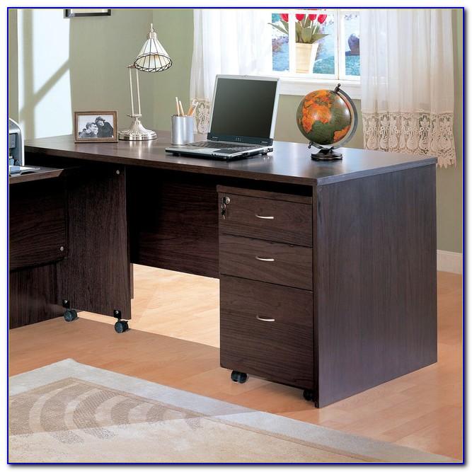 Dark Wood Corner Desk With Hutch
