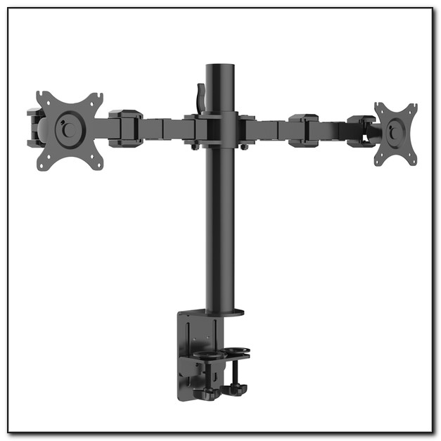 Dual Lcd Monitor Desk Mount Stand Heavy Duty Fully Adjustable