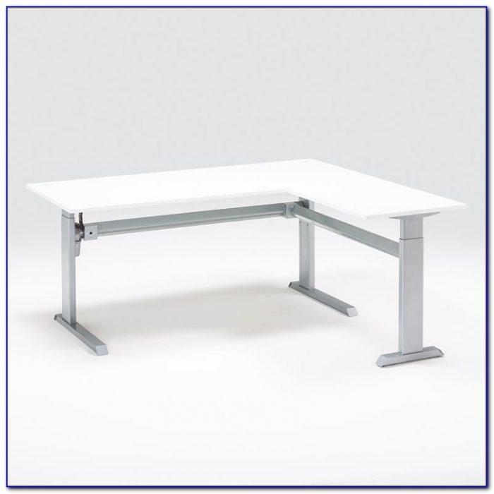 Height Adjustable L Shaped Computer Desk