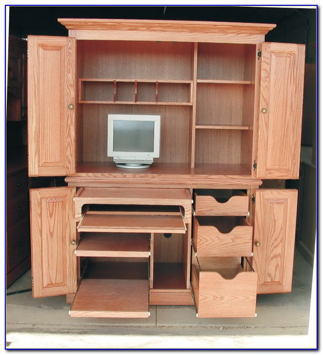 hideaway puter desk cabinet  desk  home design ideas
