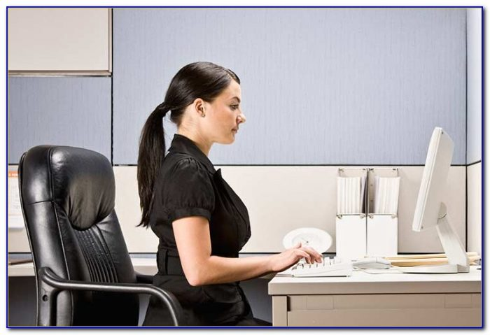 Improve Posture While Sitting At Desk